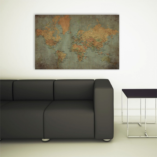 Tablou canvas retro, World Old Map 2