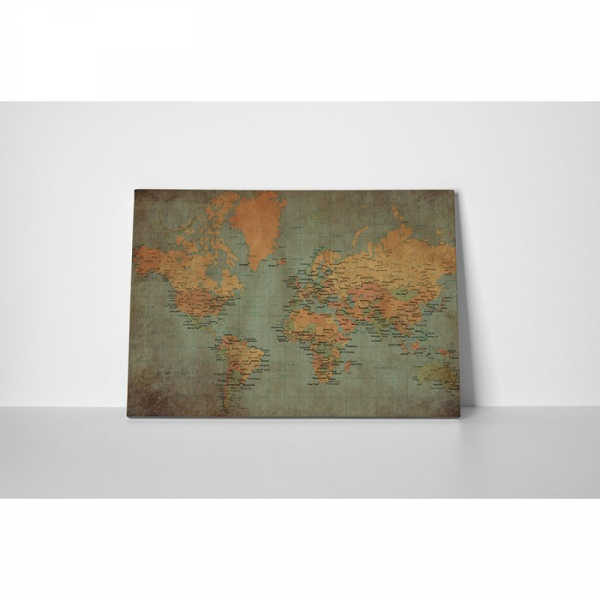Tablou canvas retro, World Old Map 1