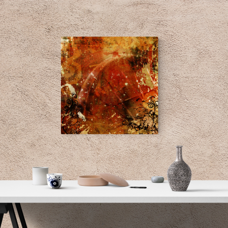 Tablou canvas abstract, Amestec floral vintage1