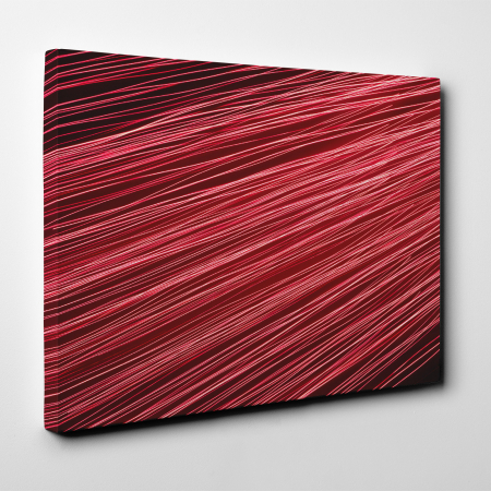 Tablou canvas abstract, Linii rosiatice1