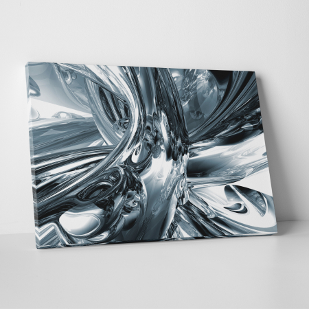 Tablou canvas abstract, Metal lichid0