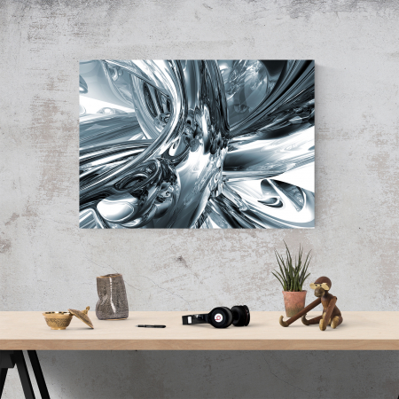 Tablou canvas abstract, Metal lichid1