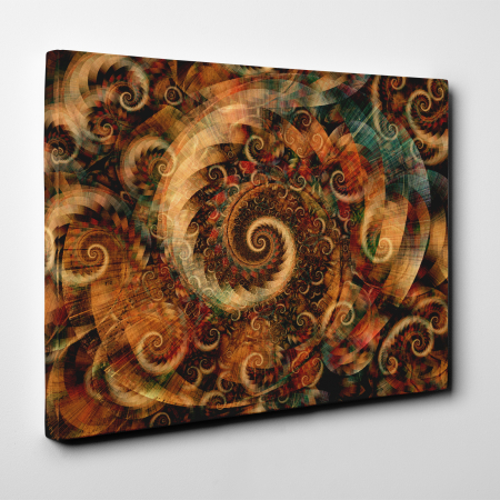 Tablou canvas abstract, Spirale colorate3