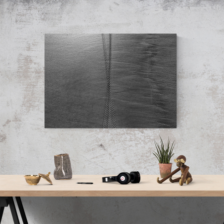 Tablou canvas abstract, Urme in nisip3