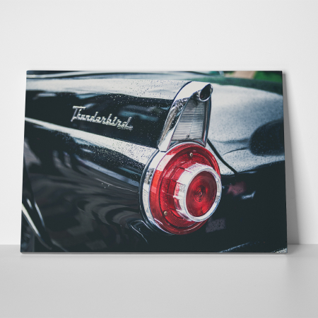 Tablou canvas auto-moto, Black Old Ford Thunderbird2