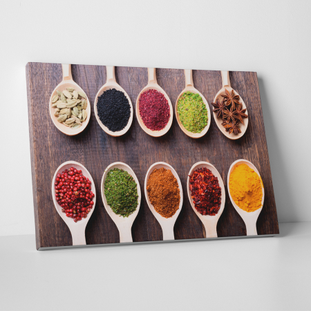 Tablou canvas bucatarie, 10 Spoons of Spices0