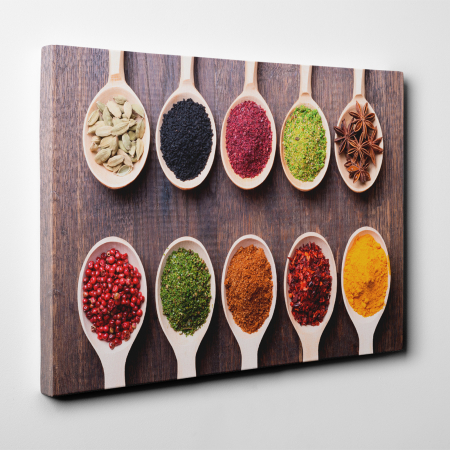 Tablou canvas bucatarie, 10 Spoons of Spices2