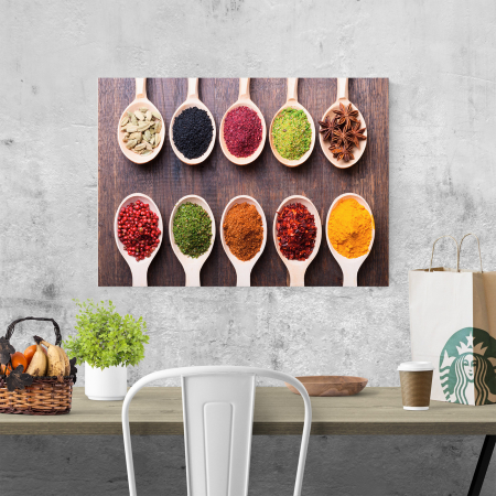 Tablou canvas bucatarie, 10 Spoons of Spices1