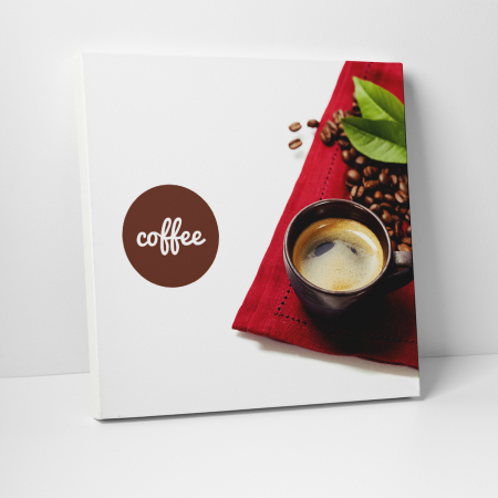 Tablou canvas bucatarie, Coffee and Beans0