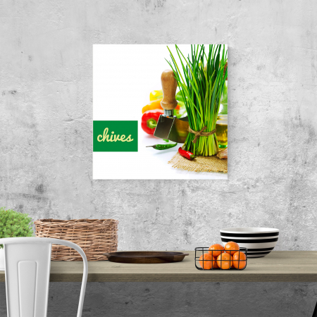 Tablou canvas bucatarie, Green Chives3