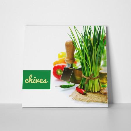 Tablou canvas bucatarie, Green Chives2