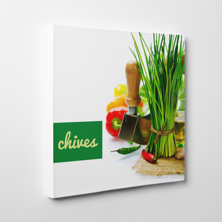 Tablou canvas bucatarie, Green Chives1