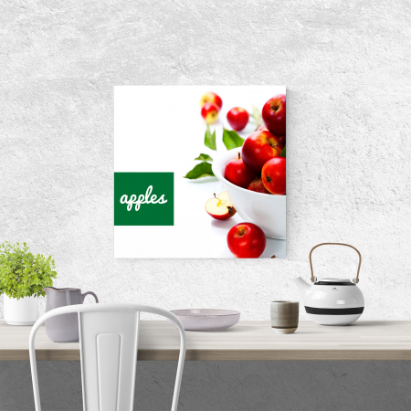 Tablou canvas bucatarie, Red Apples3