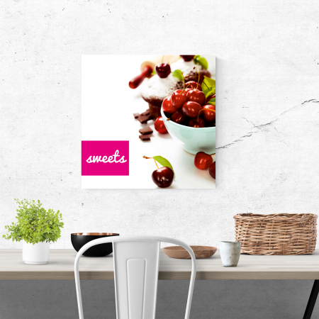 Tablou canvas bucatarie, Red Sweets3