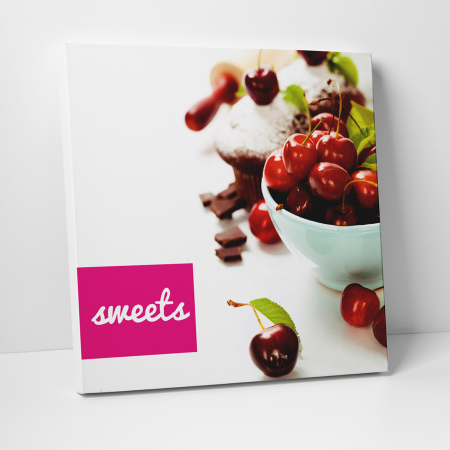 Tablou canvas bucatarie, Red Sweets0
