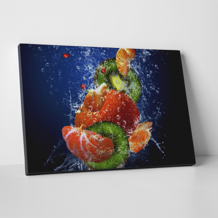 Tablou canvas bucatarie, Water Fruits0