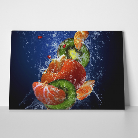 Tablou canvas bucatarie, Water Fruits4