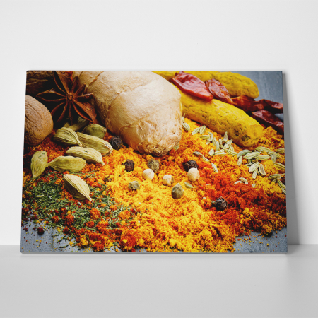 Tablou canvas bucatarie, Yellow Spices1