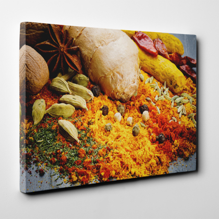 Tablou canvas bucatarie, Yellow Spices2