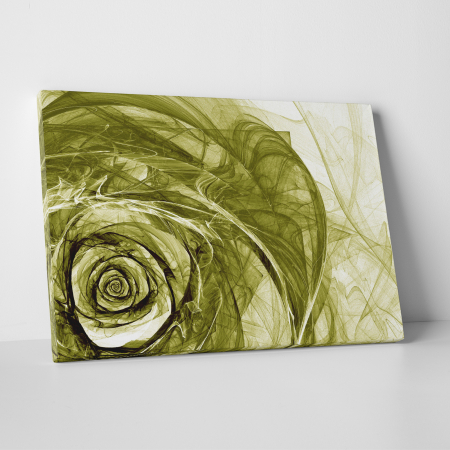 Tablou canvas floral, Green Wireframe Roses0