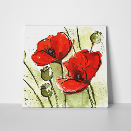 Tablou canvas floral, Poppies3