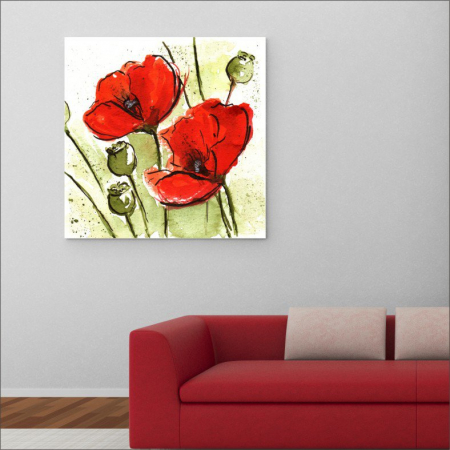 Tablou canvas floral, Poppies2