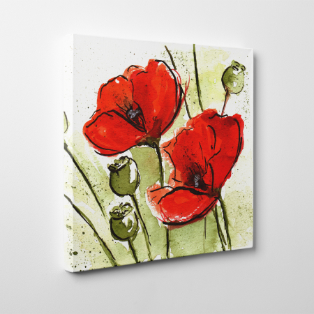 Tablou canvas floral, Poppies4