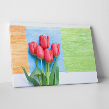 Tablou canvas floral, Red Tulips0