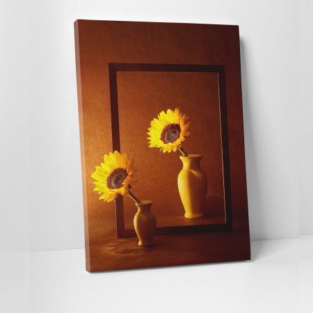 Tablou canvas floral, Sunflowers Sisters0