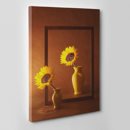 Tablou canvas floral, Sunflowers Sisters3