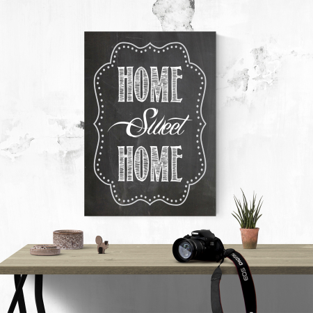 Tablou canvas motivational, Home Sweet Home3