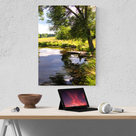 Tablou canvas natura, Silent Lake3