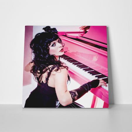 Tablou canvas people, Pink Piano Girl2