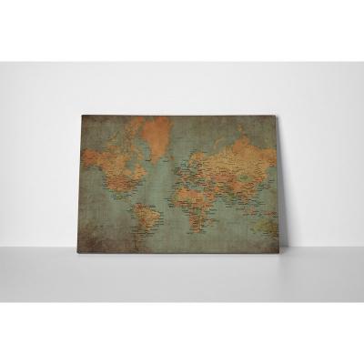 Tablou canvas retro, World Old Map1