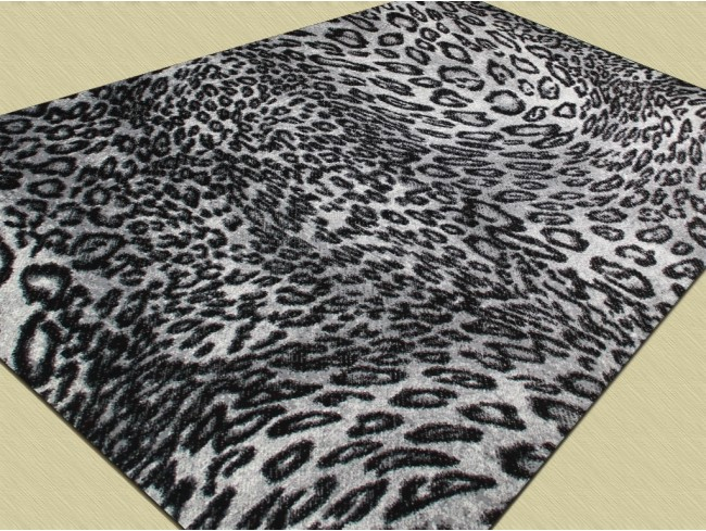 Covor Modern, Kolibri Leopard 11066, Alb / Negru, 80x150 cm, 2300 gr/mp 3