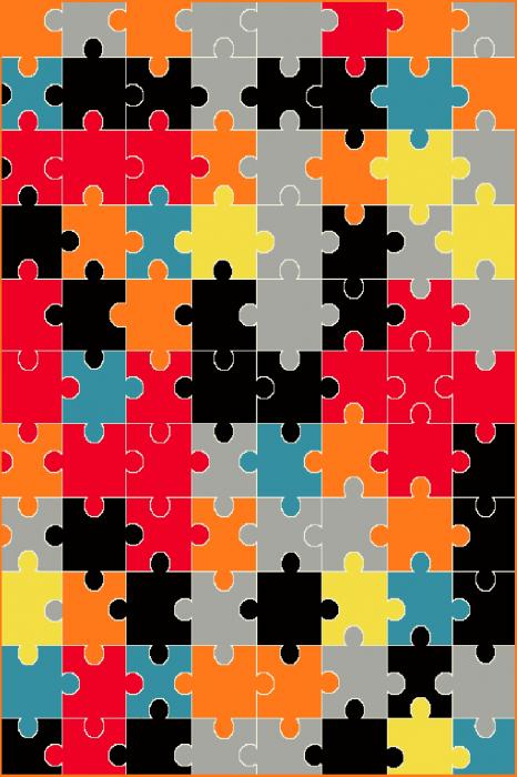 Covor Modern, Kolibri Puzzle, 11360, Multicolor, 160x230 cm, 2200 gr/mp [0]