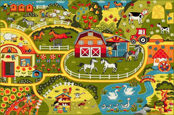 Covor Pentru Copii, Kolibri Ferma 11287, Multicolor, 160x230 cm, 2300 gr/mp [0]