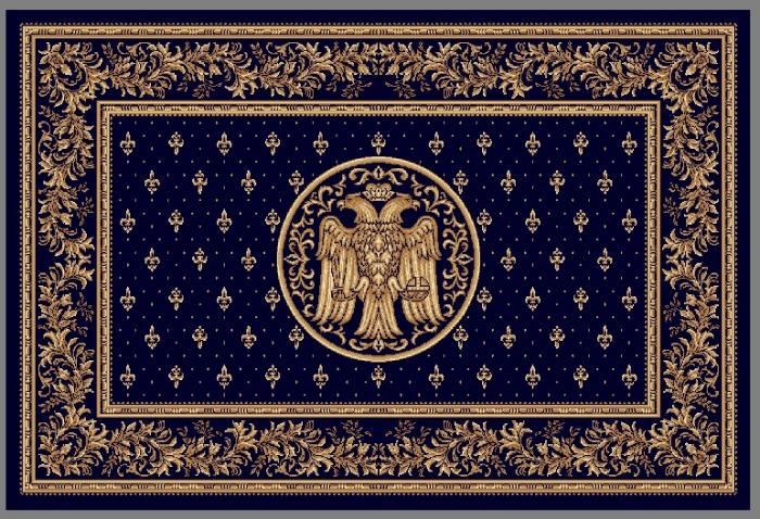 Covor Lotos, Model Bisericesc, 15032, Albastru, 80x150 cm, 1800 gr/mp [0]