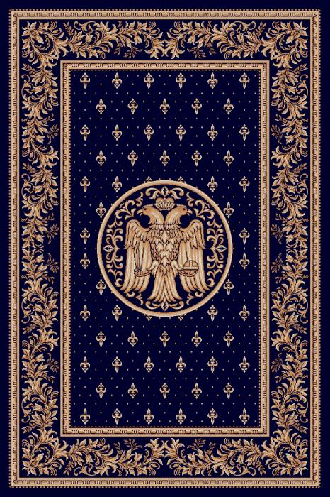Covor Lotos, Model Bisericesc, 15032-V, Albastru, 80x150 cm, 1800 gr/mp [0]