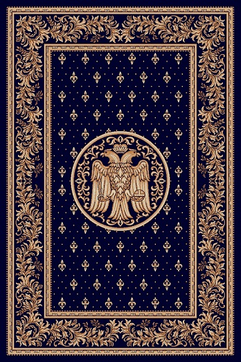 Covor Lotos, Model Bisericesc, 15032-V, Albastru, 100x200 cm, 1800 gr/mp [0]