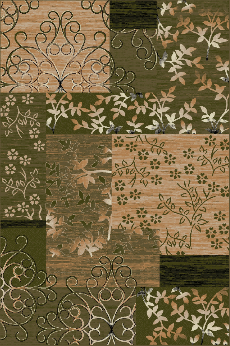 Covor Modern, Lotos 1521, Verde, 200x300 cm, 1800 gr/mp [0]