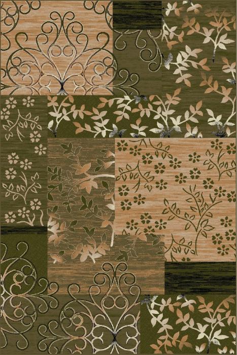 Covor Modern, Lotos 1521, Verde, 100x200 cm, 1800 gr/mp 0