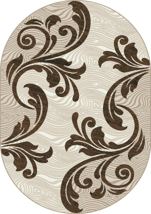 Covor Modern, Cappuccino 16025, Oval, 120x170 cm, 1700 gr/mp [0]
