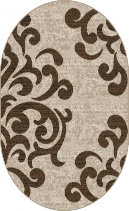 Covor Modern, Cappuccino 16028, Oval, 60x110 cm, 1700 gr/mp [0]