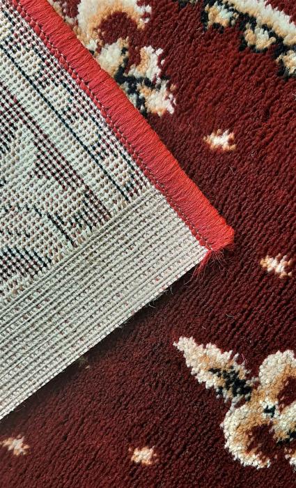 Covor Lotos, Model Bisericesc, 15032-V, Rosu, Oval, 100x200 cm, 1800 gr/mp 3