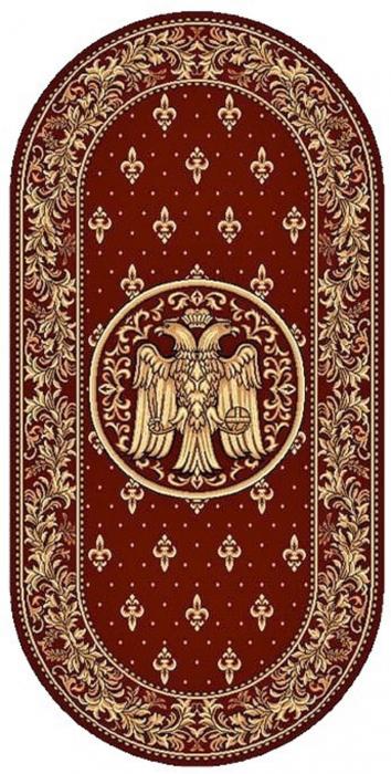 Covor Lotos, Model Bisericesc, 15032-V, Rosu, Oval, 100x200 cm, 1800 gr/mp 0