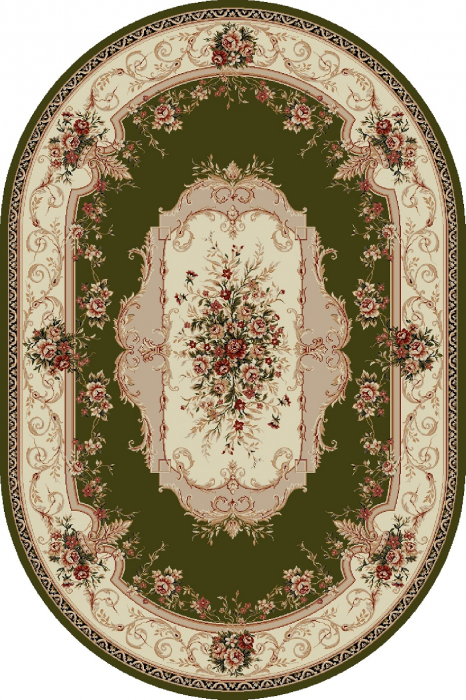 Covor Clasic, Lotos 507, Verde, Oval, 150x230 cm, 1800 gr/mp 0