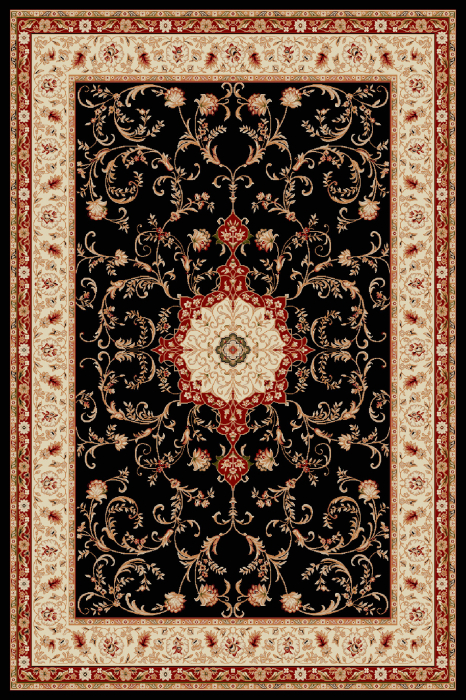 Covor Clasic, Lotos 523, Bleumarin, 100x200 cm, 1800 gr/mp [0]