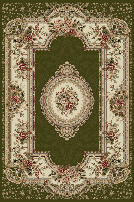 Covor Clasic, Lotos 571, Verde, 80x150 cm, 1800 gr/mp [0]