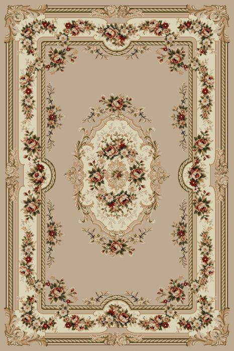 Covor Clasic, Lotos 575, Bej, 80x200 cm, 1800 gr/mp 0